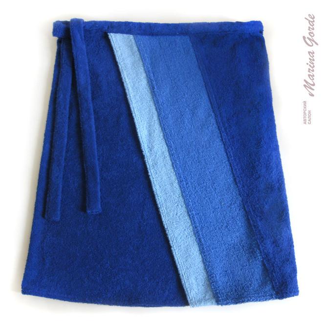 Килт с двумя диагональными полосами (темно синий, синий, голубой)