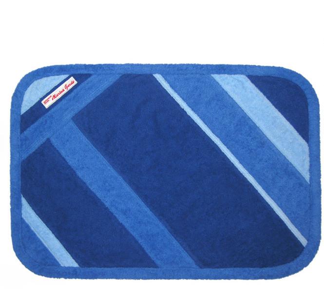 Коврик для бани, ванной 45 х 65 см (темно синий, синий, голубой)