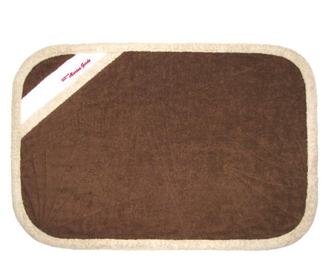 Коврик для бани, ванной, 45 х 75 см (коричневый, бежевый, белый)