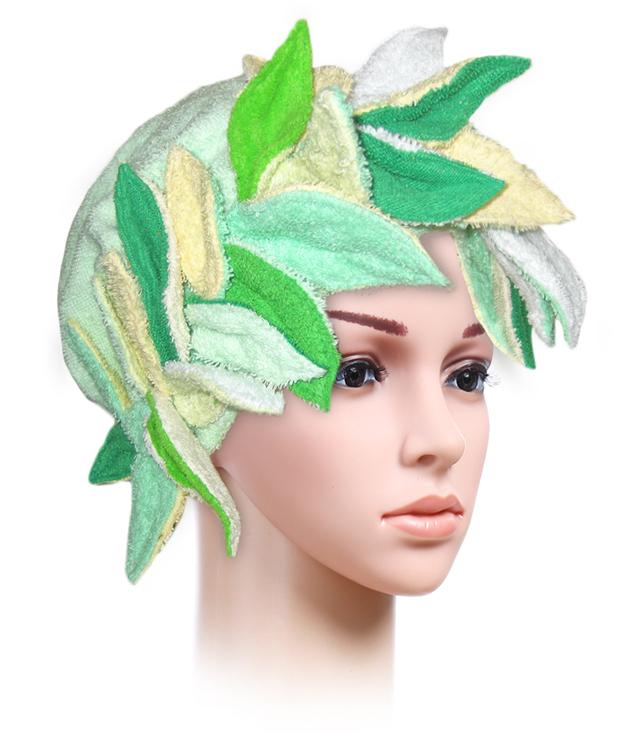 Венок из махровой ткани (зеленый)