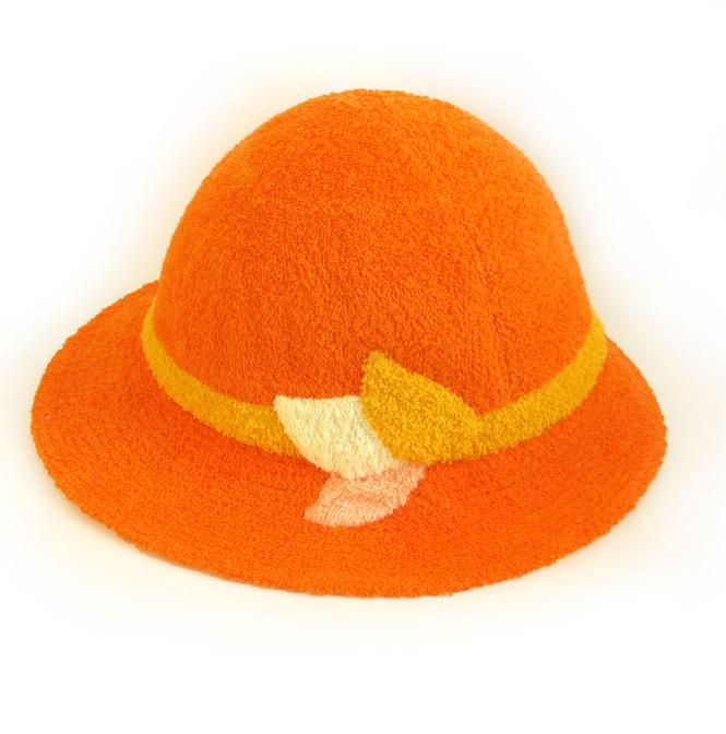 Шапка для бани - шляпа (оранжевый+желтый)